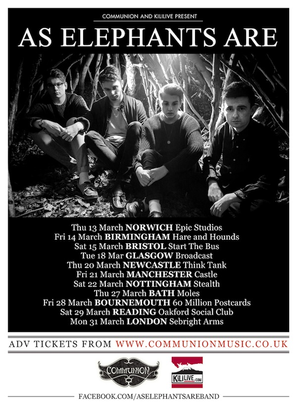 As Elephants Are TOUR March 2014